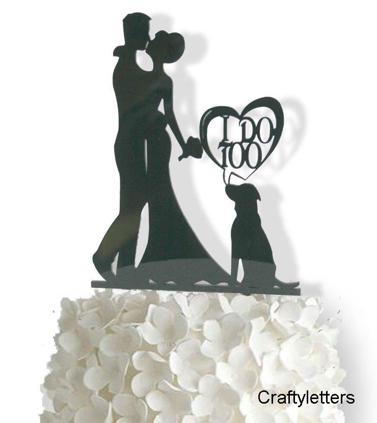 I do with dog cake topper i do with dog wedding cake topper junglespirit Gallery