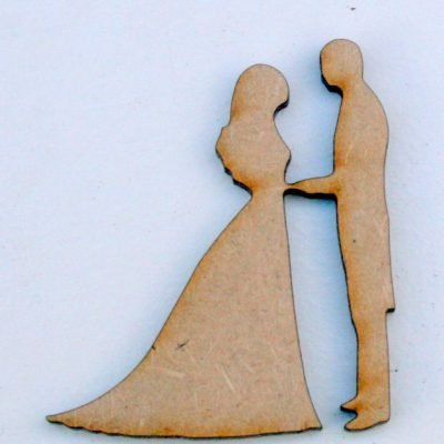 Bride and Groom MDF Craft