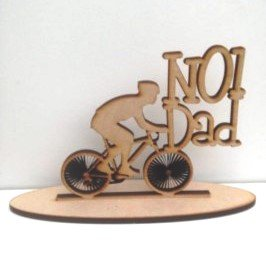 Wooden Personalised dad bike sign