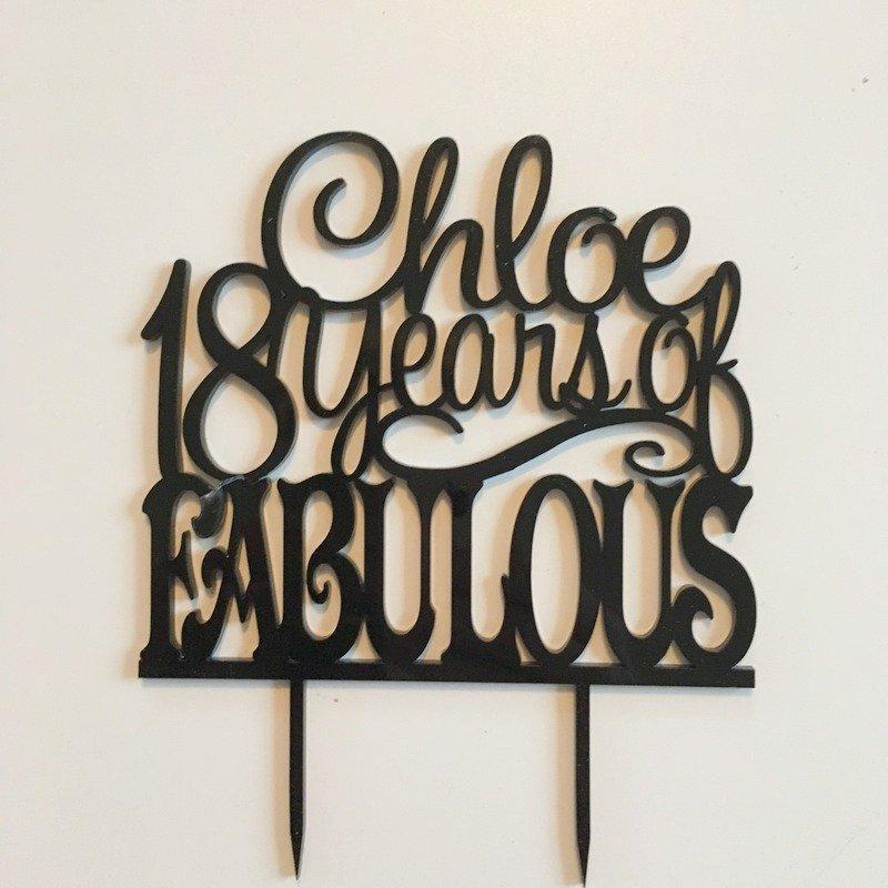 Marvelous Personalised 18Th Birthday Cake Topper 18 Years Of Fabulous Personalised Birthday Cards Xaembasilily Jamesorg