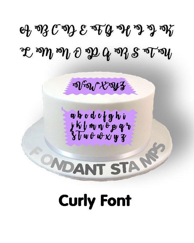 Full Set Of Curly Fondant Stamp