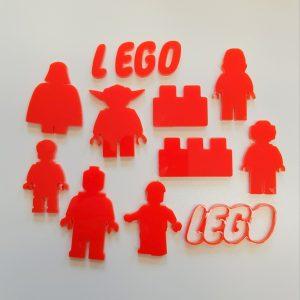 ACRYLIC LEGO SET OF CAKE FONDANT STAMPS