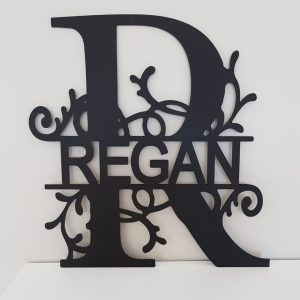 ACRYLIC PERSONALISED FAMILY MONOGRAM WALL SIGN
